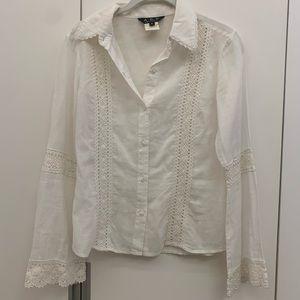 Abs by allen schwartz white blouse